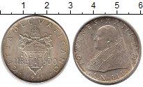 Изображение Монеты Ватикан 500 лир 1961 Серебро UNC