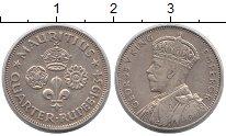 Изображение Монеты Маврикий 1/4 рупии 1934 Серебро XF