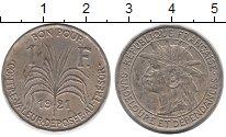 Изображение Монеты Гваделупа 1 франк 1921 Медно-никель XF Протекторат  Франции