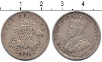 Изображение Монеты Австралия 1 шиллинг 1915 Серебро XF