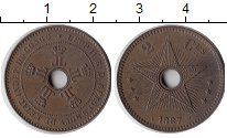 Изображение Монеты Бельгийское Конго 2 сантима 1887 Бронза XF