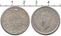 Изображение Монеты Индия 1/2 рупии 1940 Серебро XF