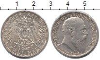 Изображение Монеты Баден 2 марки 1907 Серебро UNC-