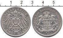 Изображение Монеты Гамбург 2 марки 1911 Серебро UNC-