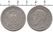 Изображение Монеты Баден 2 марки 1894 Серебро VF
