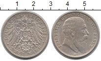 Изображение Монеты Баден 2 марки 1905 Серебро XF