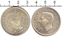 Изображение Монеты ЮАР 2 1/2 шиллинга 1952 Серебро UNC-