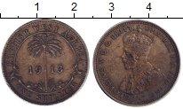 Изображение Монеты Западная Африка 1 шиллинг 1913 Серебро XF