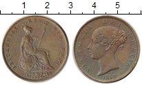 Изображение Монеты Великобритания 1 фартинг 1854 Бронза UNC-