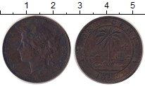 Изображение Монеты Либерия 1 цент 1896 Бронза XF