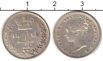Изображение Монеты Великобритания 4 пенса 1862 Серебро XF Королева  Виктория.