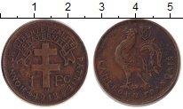 Изображение Монеты Камерун 1 франк 1943 Бронза XF Протекторат  Франции