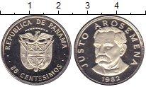 Изображение Монеты Панама 25 сентесимо 1982 Медно-никель Proof