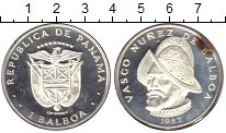 Изображение Монеты Панама 1 бальбоа 1982 Серебро Proof