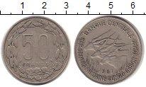 Изображение Монеты Конго 50 франков 1961 Медно-никель XF Протекторат  Франции
