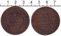 Изображение Монеты Ангола 1/2 макуты 1851 Медь XF