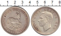 Изображение Монеты ЮАР 5 шиллингов 1949 Серебро XF Георг VI.