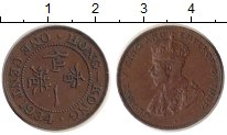 Изображение Монеты Гонконг 1 цент 1934 Бронза XF