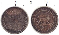 Изображение Монеты Уганда 25 центов 1910 Серебро VF