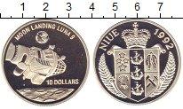 Изображение Монеты Ниуэ 10 долларов 1992 Серебро Proof `Космический  аппара