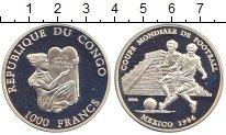 Изображение Монеты Конго 1000 франков 2001 Серебро Proof