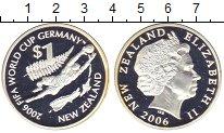 Изображение Монеты Новая Зеландия 1 доллар 2006 Серебро Proof-