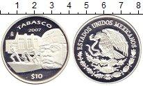 Изображение Монеты Мексика 10 песо 2007 Серебро Proof-