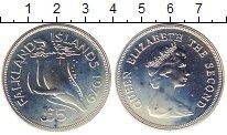 Изображение Монеты Фолклендские острова 5 фунтов 1979 Серебро UNC