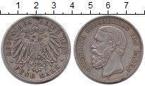 Изображение Монеты Баден 5 марок 1900 Серебро XF