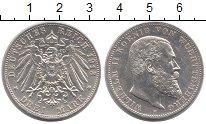 Изображение Монеты Вюртемберг 3 марки 1913 Серебро XF