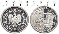 Изображение Монеты Польша 200000 злотых 1992 Серебро Proof 500 - летие  открыти
