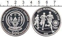 Изображение Монеты Руанда 500 франков 2006 Серебро Proof Олимпиада 2008.