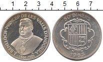 Изображение Монеты Андорра 50 динерс 1963 Серебро UNC-