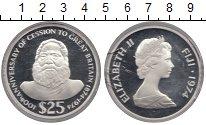 Изображение Монеты Фиджи 25 долларов 1974 Серебро Proof