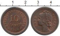 Изображение Монеты Кабо-Верде 10 сентаво 1930 Бронза XF Протекторат  Португа