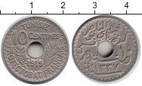 Изображение Монеты Тунис 10 сентим 1919 Медно-никель XF