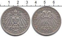Изображение Монеты Любек 3 марки 1908 Серебро XF
