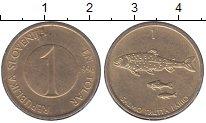 Изображение Цветные монеты Словения 1 толар 1996 Медно-никель XF KM#4