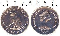 Изображение Монеты Гибралтар 25 пенсов 1971 Серебро UNC гибралтарская обезья