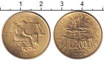 Изображение Монеты Сан-Марино 200 лир 1978 Медь XF
