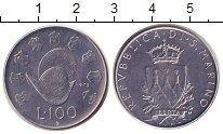 Изображение Монеты Сан-Марино 100 лир 1979 Железо XF