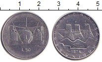 Изображение Монеты Сан-Марино 50 лир 1976 Железо XF
