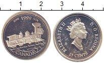 Изображение Монеты Канада 25 центов 1999 Серебро UNC