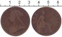 Изображение Монеты Великобритания 1 пенни 1901 Медь VF