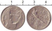Изображение Монеты Италия 20 сентесимо 1913 Медно-никель XF