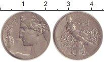 Изображение Монеты Италия 20 сентесимо 1910 Медно-никель XF