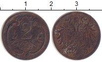 Изображение Монеты Австрия 2 геллера 1907 Медь VF