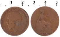 Изображение Монеты Великобритания 1/2 пенни 1915 Медь VF