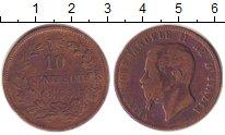 Изображение Монеты Италия 10 сентесим 1863 Медь VF Виктор  Эммануил II.