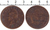 Изображение Монеты Аргентина 2 сентаво 1884 Медь XF